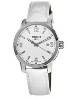 Tissot PRC 200  White Dial Leather Strap Unisex Watch T055.410.16.017.00