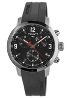 Tissot PRC 200  Black Chronograph Rubber Strap Men's Watch T055.417.17.057.00