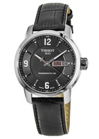 Tissot PRC 200  Powermatic 80 Black Leather Strap Men's Watch T055.430.16.057.00