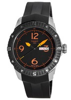 Tissot T-Navigator  Automatic Black Dial Rubber Strap Men's Watch T062.430.17.057.01