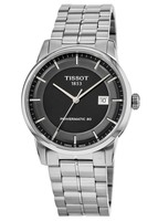 Tissot T-Classic Luxury Automatic Black Dial Stainless Steel Men's Watch T086.407.11.051.00