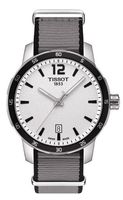 Tissot Quickster  Silver Dial Grey Fabric Men's Watch T095.410.17.037.00
