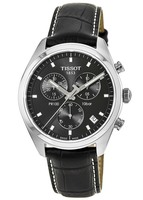 Tissot PR 100  Black Chronograph Dial Leather Strap Men's Watch T101.417.16.051.00