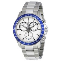 Tissot V8 Quartz Chronograph Stainless Steel Blue Bezel Men's Watch T106.417.11.031.00
