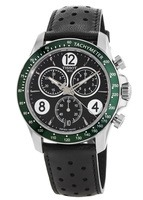 Tissot V8 Quartz Chronograph Black Dial Green Bezel Men's Watch T106.417.16.057.00