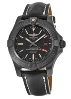 Breitling Avenger Avenger Blackbird 44 Special Edition Black Titanium Case Black Leather Calf Strap Men's Watch V1731110/BD74-435X