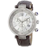 Versace Reve  Chronograph Diamond Leather Strap Men's Watch VAJ070016