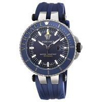 Versace V-Race  Blue Dial Rubber Strap Men's Watch VAK020016