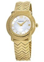 Versace DV-25  Gold Tone Mother of Pearl Dial Women's Watch VAM040016