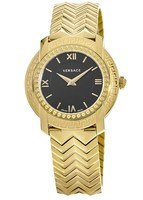 Versace DV-25  Gold Tone Black Dial Women's Watch VAM050016
