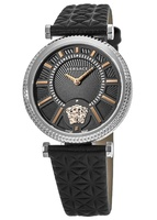 Versace V-Helix  Black Dial Leather Strap Women's Watch VQG020015