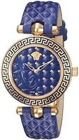 Versace Vanitas Micro  Blue Dial Blue Quilted Leather Women's Watch VQM090016