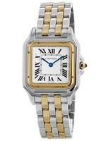 Cartier Panthere de Cartier Medium Silver Dial Yellow Gold and Stainless Steel Women's Watch W2PN0007