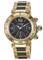 Cartier Pasha Seatimer Chronograph Black Dial Men's Watch W301970M