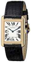 Cartier Tank Solo 18kt Yelllow Gold Leather Strap Unisex Watch W5200004