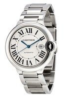 Cartier Ballon Bleu 42mm Silver Dial Men's Watch W69012Z4