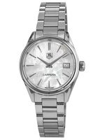 Tag Heuer Carrera Quartz White Mother of Pearl Dial Steel Women's Watch WAR1311.BA0778