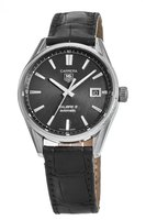 Tag Heuer Carrera  Automatic Black Dial Leather Strap Pre-Owned Men's Watch WAR211A.FC6180-PO