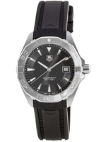 Tag Heuer Aquaracer 300M 41MM Black Dial Rubber Strap Men's Watch WAY1110.FT8021