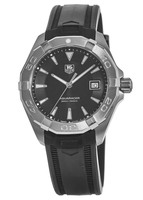 Tag Heuer Aquaracer 300M 40.5MM Black Dial Black Rubber Men's Watch WAY1110.FT8021-PO