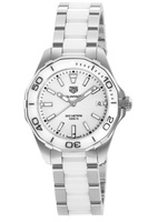 Tag Heuer Aquaracer Lady 300M 35MM White Ceramic & Steel Women's Watch WAY131B.BA0914