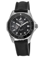 Tag Heuer Aquaracer Lady 300M 35MM Black Mother of Pearl Diamond Dial Rubber Strap Women's Watch WAY131M.FT6092