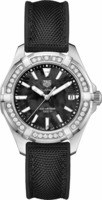 Tag Heuer Aquaracer Lady 300M 35MM Black Mother of Pearl Dial Diamond Fabric Strap Women's Watch WAY131P.FT6092