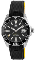 Tag Heuer Aquaracer 300M Automatic Calibre 5 Ceramic Bezel Black Rubber Strap Men's Watch WAY211A.FT6068