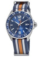 Tag Heuer Formula 1  Blue Nato with orange and grey stripes Men's Watch WAZ1010.FC8196