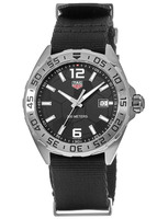 Tag Heuer Formula 1 Quartz Soccer Black Dial Fabric Strap Men's Watch WAZ1015.FC8198