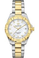 Tag Heuer Aquaracer Lady 300M 32MM Yellow Gold & Steel Diamond Dial Women's Watch WBD1322.BB0320
