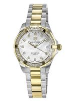 Tag Heuer Aquaracer Lady 300M 32MM 18k Gold Diamond Bezel Mother of Pearl Diamond Dial Women's Watch WBD1323.BB0320