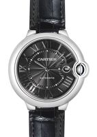 Cartier Ballon Bleu 42mm Black Leather Automatic Men's Watch WSBB0003