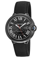 Cartier Ballon Bleu 42mm Black Carbon Men's Watch WSBB0015