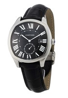 Cartier Drive De Cartier  41mm Black Dial Crocodile Strap Men's Watch WSNM0009