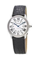 Cartier Ronde Solo Automatic 36mm Leather Strap Unisex Watch WSRN0013