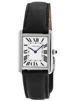 Cartier Tank Solo Large Size Leather Strap Women's Watch WSTA0028