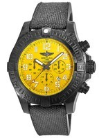 Breitling Avenger Hurricane 12H Cobra Yellow Dial Breitlight Case Fabric & Rubber Strap Men's Watch XB0170E4/I533-282S