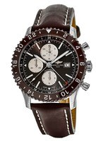 Breitling Chronoliner  Bronze Dial Brown Leather Men's Watch Y2431033/Q621-443X