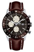 Breitling Chronoliner  Bronze Dial Brown Leather Men's Watch Y2431033/Q621-444X