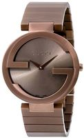 Gucci Interlocking G  Brown PVD Unisex Watch YA133317