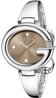 Gucci Ssima  Brown Dial Stainless Steel Women's Watch YA134302
