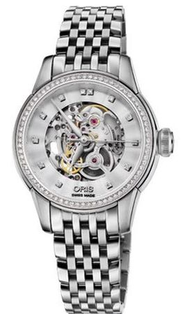 Oris Artelier Skeleton  Women's Watch 01 560 7687 4919-07 8 14 77