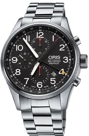 Oris Big Crown ProPilot Chronograph GMT  Men's Watch 01 677 7699 4164-07 8 22 19