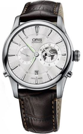 Oris Artelier Greenwich Mean Time Limited Edition Men's Watch 01 690 7690 4081-Set LS Kroko