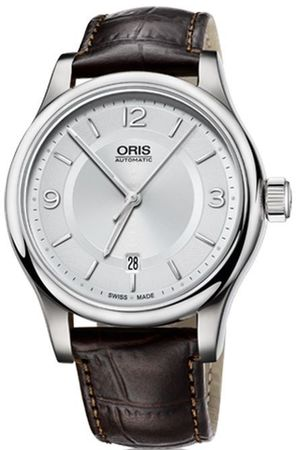 Oris Classic Date Silver Dial Brown Leather Men's Watch 01 733 7594 4031-07 5 20 12
