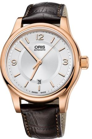 Oris Classic Date Silver Dial Brown Leather Men's Watch 01 733 7594 4831-07 6 20 12
