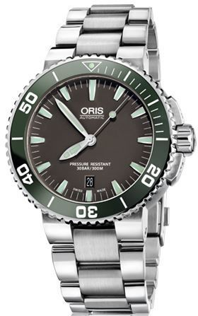 Oris Aquis Date Grey Dial Stainless Steel Men's Watch 01 733 7653 4137-07 8 26 01PEB