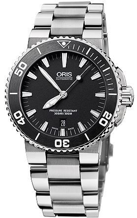 Oris Aquis Date Black Dial Stainless Steel Men's Watch 01 733 7653 4154-07 8 26 01PEB