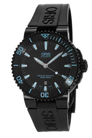 Oris Aquis Date Black Dial Blue Markers Men's Watch 01 733 7653 4725-07 4 26 34BEB